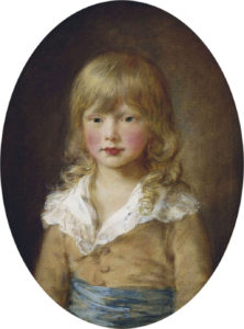 Portrait of Prince Octavius, a 1782 painting by Thomas Gainsborough, depicting a young boy with long blonde hair.
