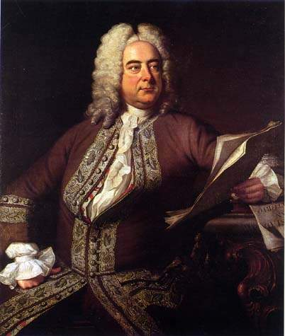 A Portrait of composer George Frideric Handel.