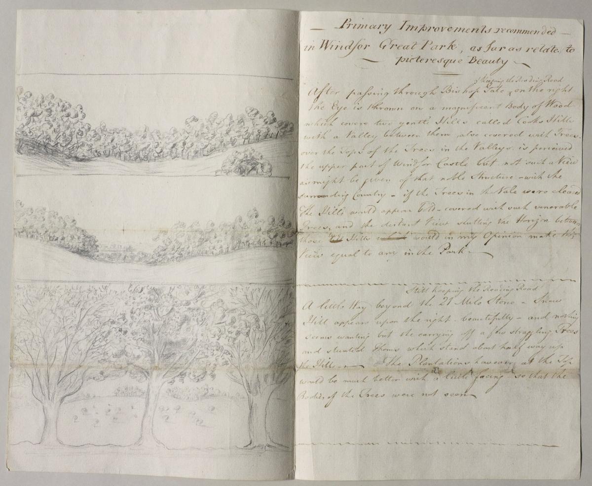 Memorandum on the improvements to Windsor Great Park, c. 1791